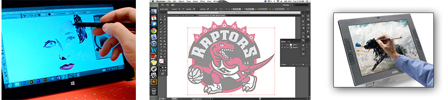 Manual tracing to illustrator vector graphic