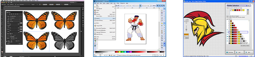 Programs used to convert pixel art to vector graphics